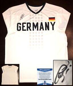 hot sale online c9191 5108f Details about Bastian Schweinsteiger Signed Germany Jersey Chicago Fire  Beckett BAS COA