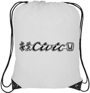 fibre logo Honda de fourre cordon blanc à carbone tout à blanc dos Bleu rétro 13l noir Sac de logo Civic avec de ORqwPHppnB