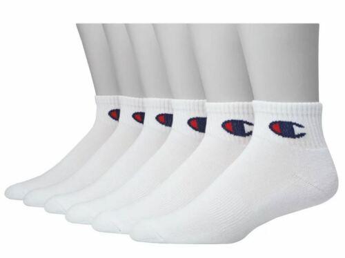Champion Men/'s Ankle White Socks 6 pair