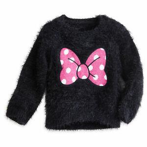 Dettagli su Disney Store Ragazze Minnie Mouse Felpa Maglione, Nero