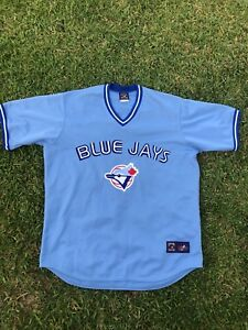 free shipping bd453 ce58a Details about VINTAGE COOPERSTOWN COLLECTION MLB TORONTO BLUE JAYS JERSEY  Men SIZE 2X