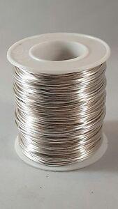50-Meter-Silberdraht-1-0-mm-Schmuckdraht-Kupferkern-Silver-Plated-Copper-Wire