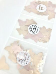 GOLD Foil Wedding Confetti Packets Flutterfall Throwing Confetti Bag Sticker