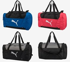 5f2f032273 Details about Puma Fendamentals Sports Small Duffel Bags Running Pink GYM  Bag Sacks 07509603
