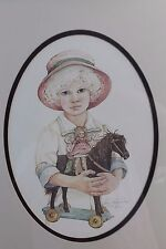 Jan Hagara Ltd Ed Print of Girl With Horse and Doll Signed & Numbered Children