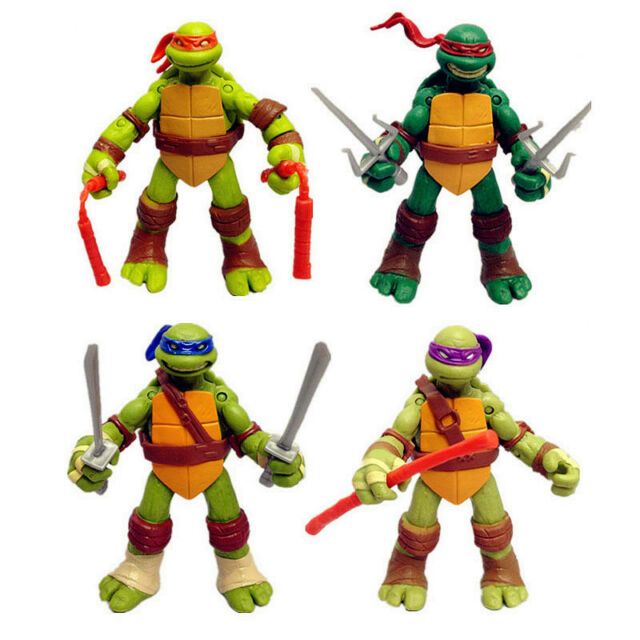4 Pcs Teenage Mutant Ninja Turtles Action Figure TMNT Vintage Collection Set NEW