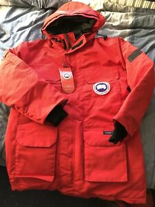 Canada-Goose-Expedition-Parka-Red-Model-Number-4565m-Size-XL-Brand-New