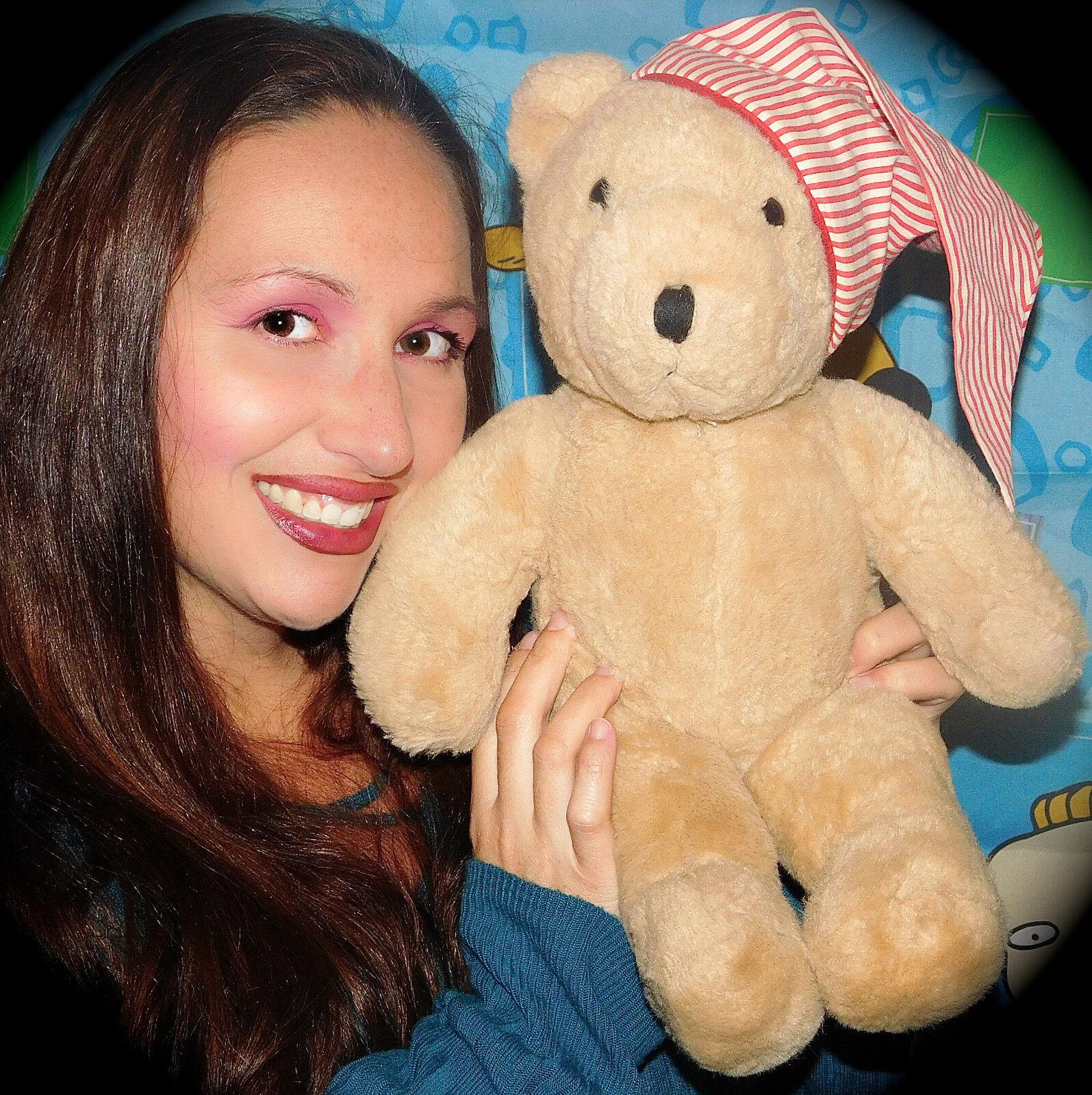Vintage Chosun Bear Plush Stuffed Bear + PAJAMA NIGHT CAP 17