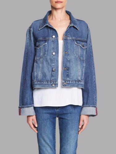 Denim Størrelse Jean Overlock 2 Ny Jacket Cuff Medium Frame Le Blue Omvendt fqxSzw5