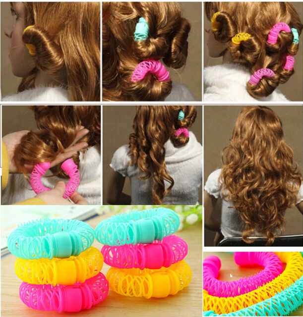 Hairdress Magic Bendy Hair Styling Roller Curler Spiral Curls DIY Tool  8 Pcs BH