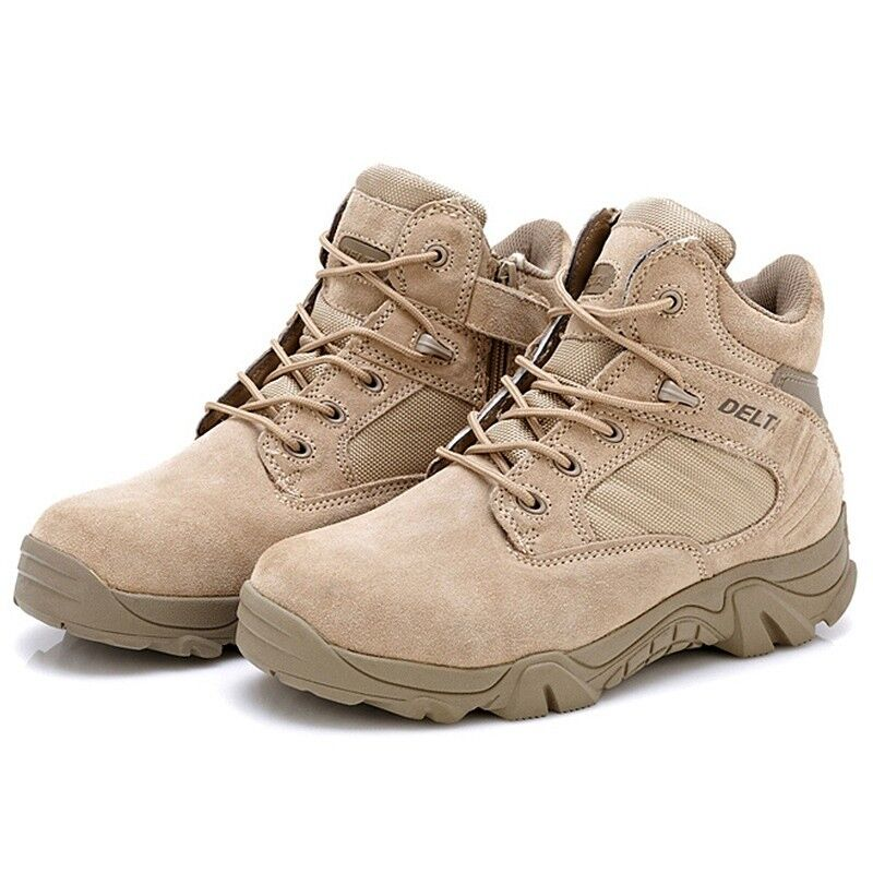 Tactical Desert Leather Boots Men''s Military Army Combat Patrol Hiking Walking