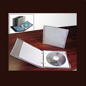 Image is loading UniKeep-CD-DVD-5-Disc-Storage-Wallet-White-