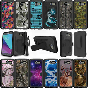 the best attitude 72324 79833 Details about For Samsung Galaxy J3 Eclipse   J3 Mission (2017) Case  Holster Clip Stand Camos