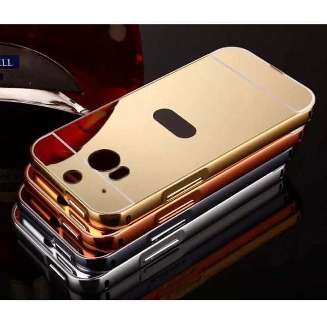 Aluminum Metal Mirror Case +PC Back Cover Skin For Xiaomi Nokia Motorola LG HTC