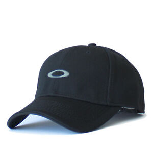 Oaklay Silicon O 2.0 Hat Mens Tek-Flex Stretch Fit Baseball Cap Golf Casual Blk