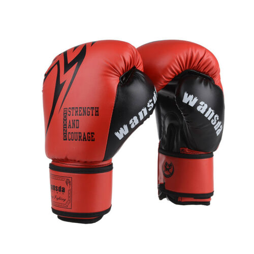 Muay Thai MMA Boxing Gloves Sparring Bag Punching Gear Kickboxing Equipment