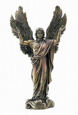 """Large Archangel Metatron Statue Sculpture Figure 14"""" Tall - GIFT BOXED"""