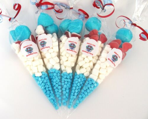 Paw Patrol 10 x Pre Filled Sweet Cones Personalised Paw Patrol sweets x 10