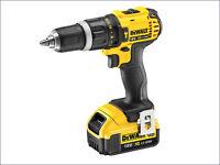 Dewalt 18v Cordless Combi Hammer Drill 4ah Lithium Battery In Case Dcd785m1
