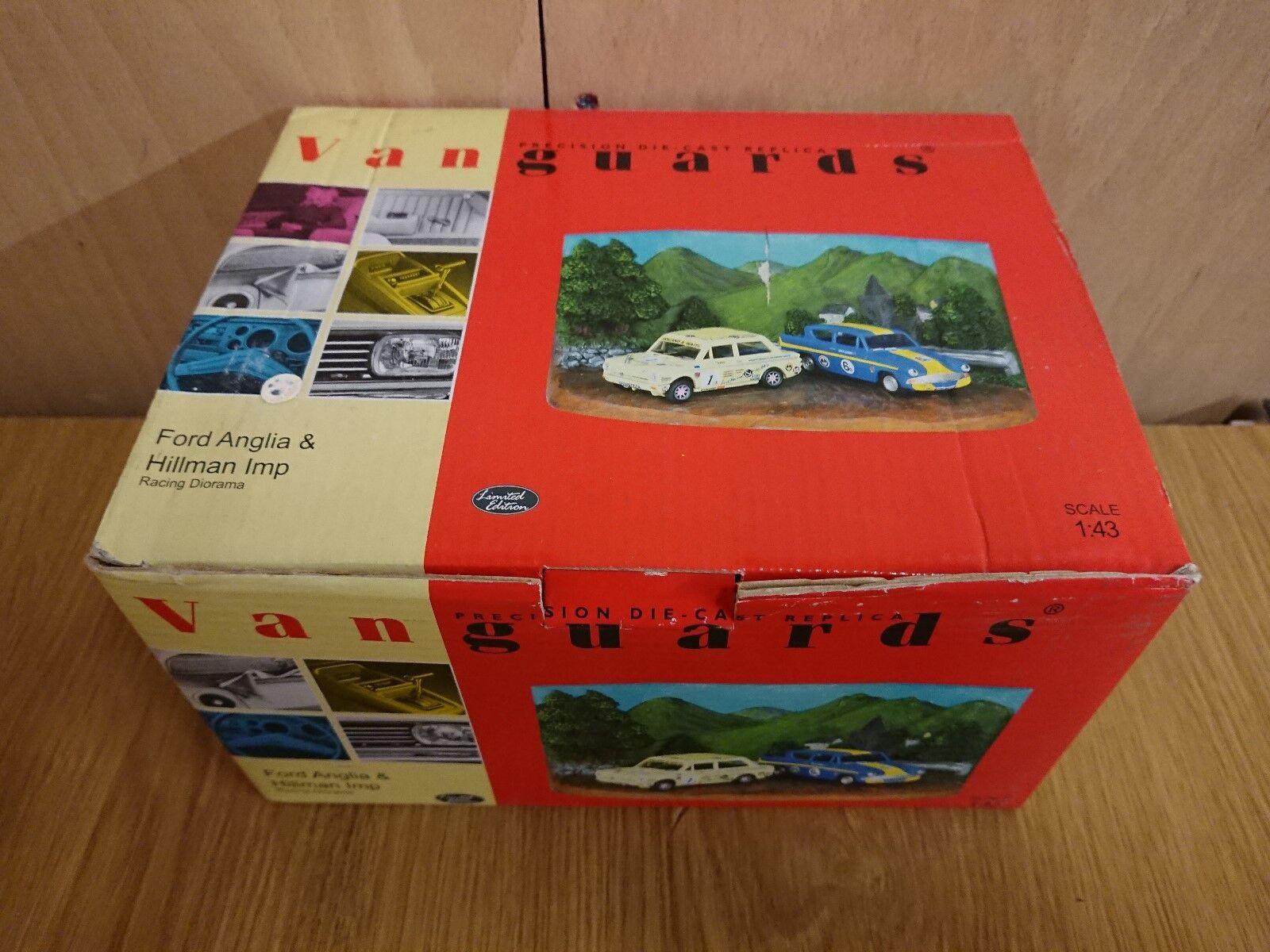 Corgi Vanguards RD3002 Ford Anglia Hillman Imp carrera Diorama Ltd Ed 2457 de 2600