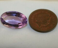 FACETED OVAL GEM 11.5X18 LOOSE AMETHYST GEMSTONE 12.2 CT LIGHT PURPLE AM2
