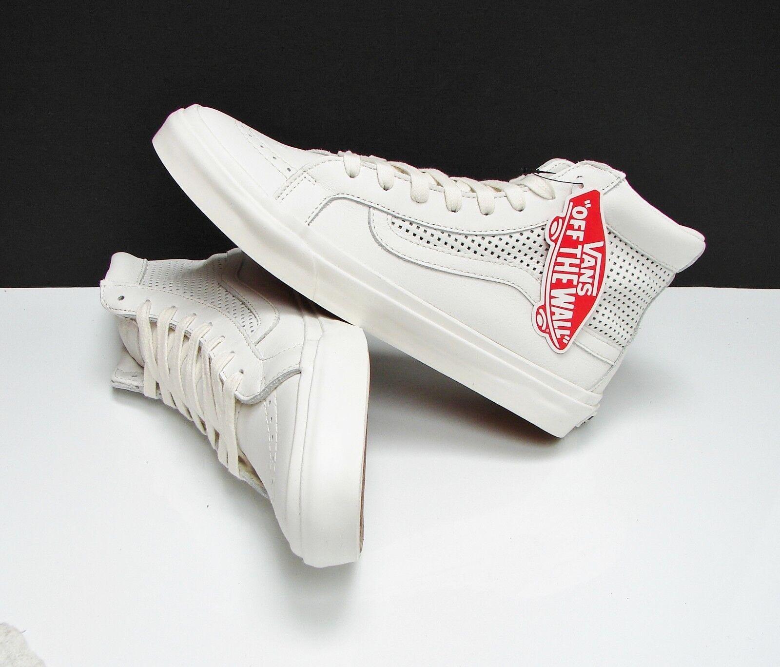 Vans SK8 Hi Slim Cutout Square Perf white De white VN0A38GQMSH Women's Size  9.5