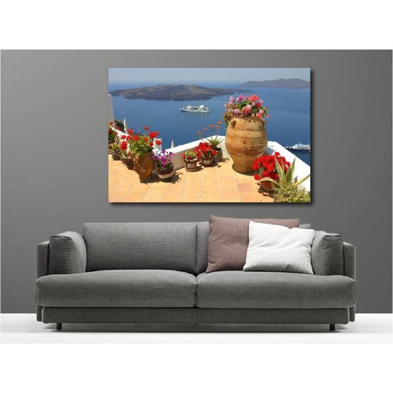 Canvas Fabric Deco Rectangle Balcony View on the Sea 3096404