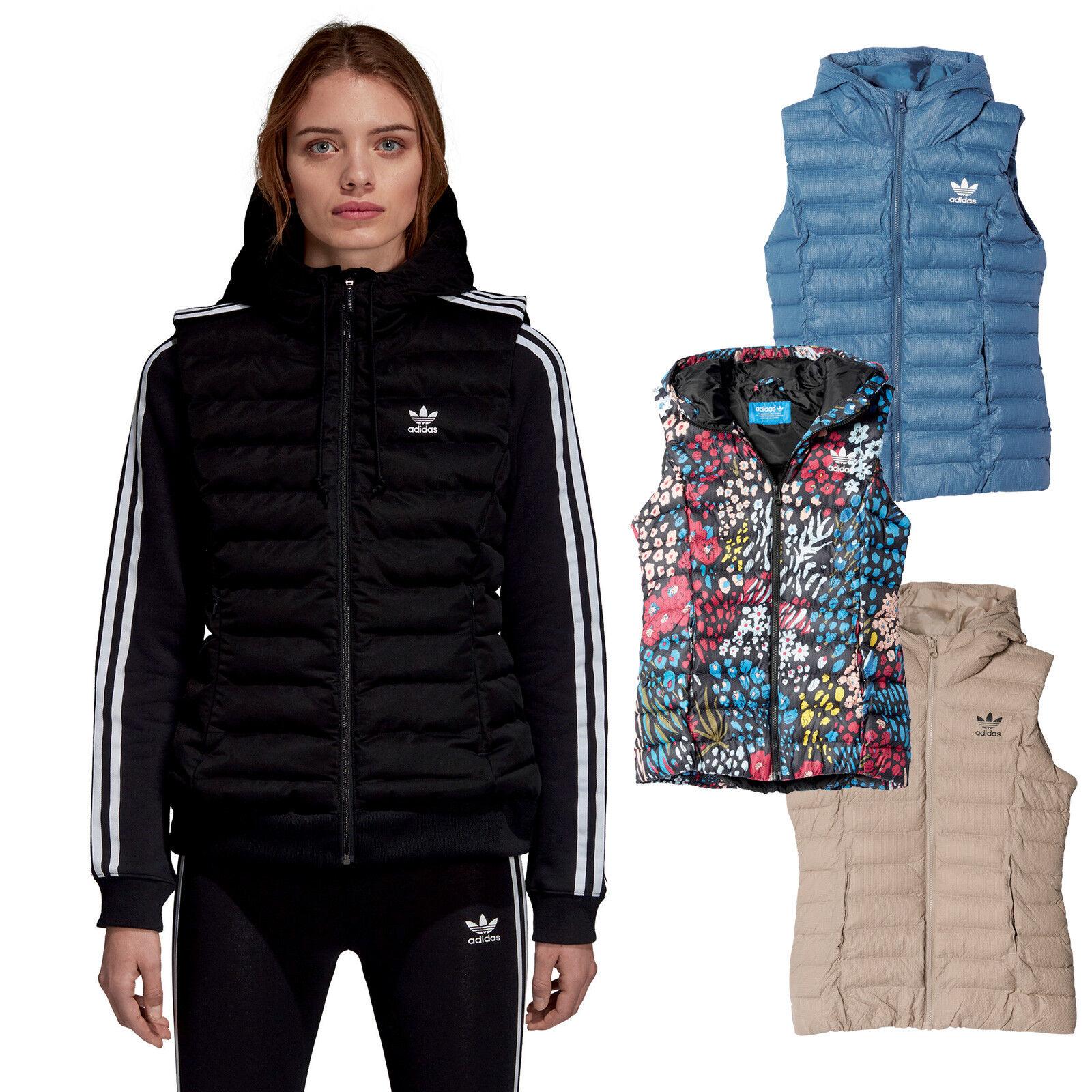 Adidas Originals Ladies-Vest down Vest Winter Vest Slim Vest Quilted Vest