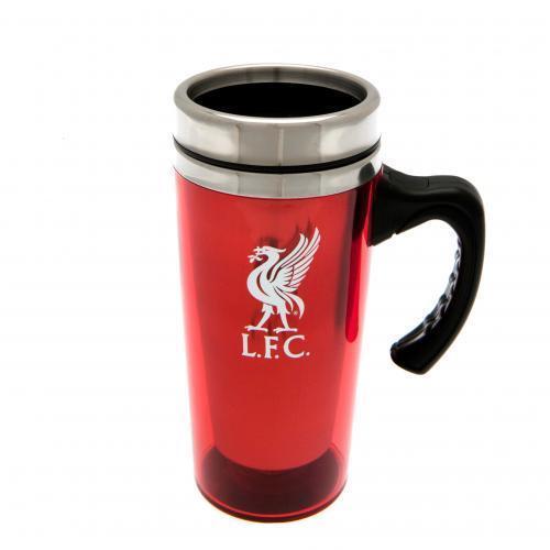Liverpool Tasse de voyage en aluminium coupe Crest New Official Licensed Football Produit