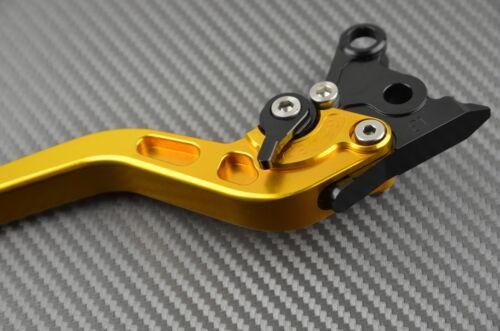 Long brake /& clutch levers pair GOLD CNC Triumph Sprint 900 all versions