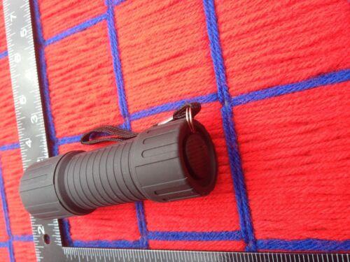 plastic BLACK flashlight 6 LED bright Daylight with 3 free AAA batteries FREE