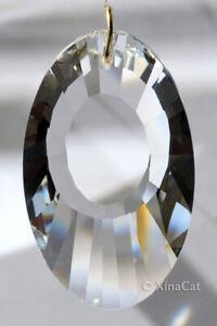 Huge-3-inch-76mm-Oval-Faceted-Crystal-Clear-Prism-SunCatcher-Prism