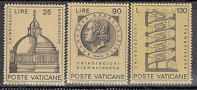 """Vatikan 1972 """" Bramante- Feier Effizient 19 """" Mi.nr: 596-98 Postfrisch 1983"""
