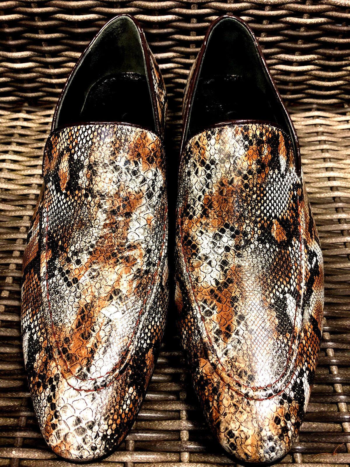 CHELSY designer en Serpent   Cuir Slipper handmade Mocassin handmade Slipper artisanat 4ecfa1