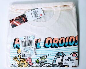 Star-Wars-Disney-Mens-2XL-Rebel-Droids-C3PO-BB8-R2D2-Graph-Tshirt-New-Tag-NWT