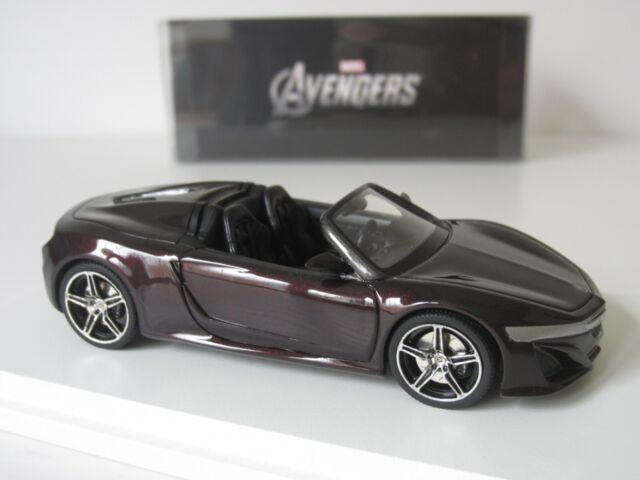 2012 Marvel Avengers Acura Honda NSX Cabriolet Concept purple 1//43 TSM
