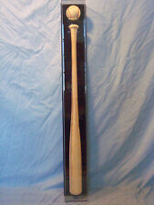 Baseball Bat Display Case VERTICAL holds single ball wall mount left or right
