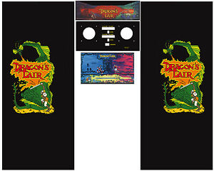 Full Set Side Art Arcade Cabinet Dragon's Lair Artwork Decals ...