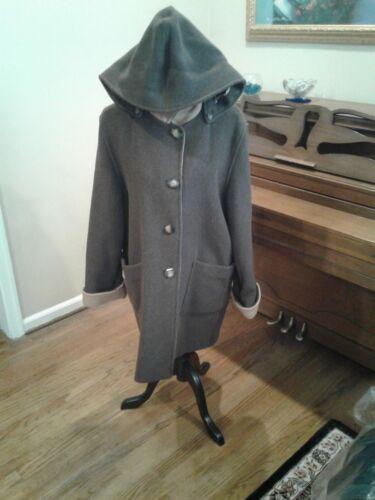 6 Parka Italy 8 lana con Medium cappuccio staccabile Cappotto in Cinzia Rocca HSqaqwT