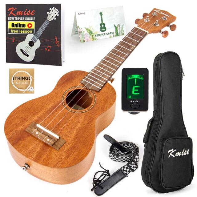 Kmise Concert Ukulele Solid Spruce Ukelele 23 Inch With Gig Bag Professional For Sale Online Ebay