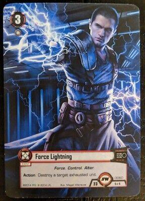STAR WARS LCG CARD GAME ~ FORCE LIGHTNING ALTERNATE ART PROMO CARD ~ FFG