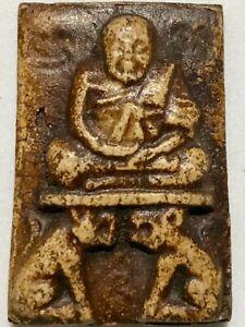 PHRA LP PAN RARE OLD THAI BUDDHA AMULET PENDANT MAGIC ANCIENT IDOL#12
