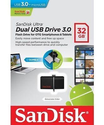 SanDisk 16GB OTG Ultra Dual microUSB USB 3.0 Flash/pen Drive SDDD2-016G MISB
