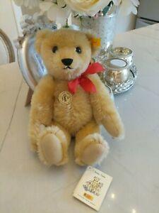 """STEIFF  """"CLASSIC TEDDY BEAR""""  MOHAIR w/ GROWLER EAN 000379"""
