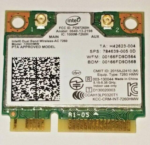 Intel 7260NGW 802.11AC 867M NGFF//M.2 Wireless Wifi BT 4.0 WLAN Card GPFNK Good