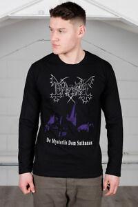 Official-Mayhem-De-Mysteriis-Dom-Sathanas-Unisex-Manica-Lunga-T-Shirt-Merch