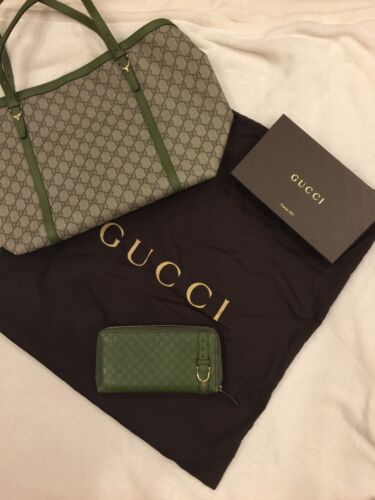 Authentic Gucci leather bag and wallet