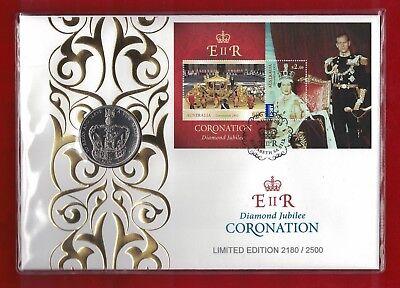 Queens Coronations 2013 Perth 2 x $1 PNC
