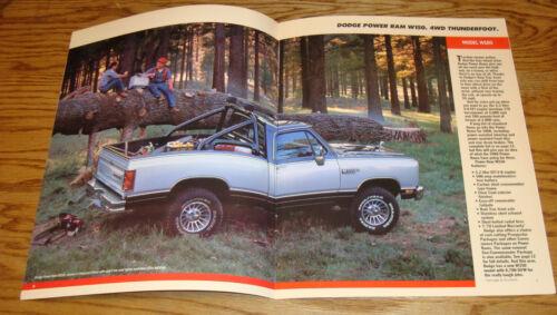 Original 1988 Dodge Truck Full-Size Pickup Sales Brochure 88