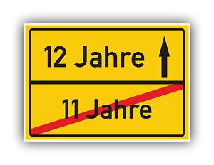 Ortsschild-Deko-Bild-Geschenkidee-zum-12-Geburtstag-Glueckwunsch-Geschenk-Karte